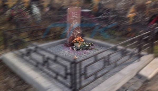 пример памятника из гранита ребенку