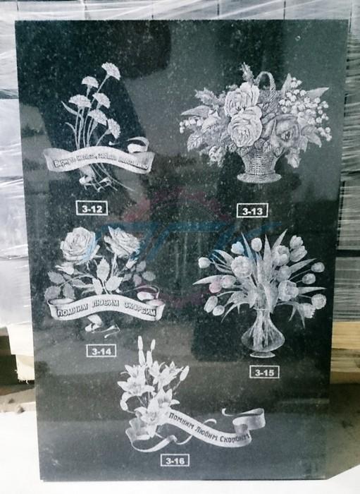 гравировка цветов на граните пример