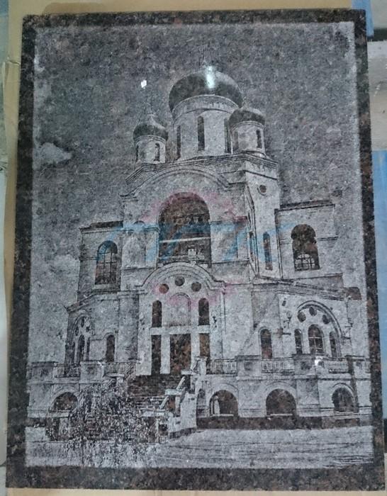 пример гравировки храма