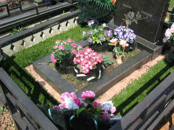 Как оформить могилу на кладбище своими руками фото