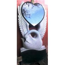 Памятник с лебедем и сердцем ЭРП31
