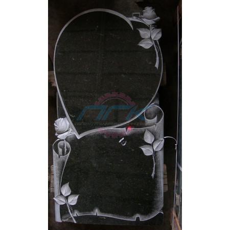 Памятник с сердцем и розой ЭРП60