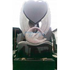Памятник лебедь с сердцем ЭРП79