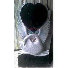 Памятник лебедь с сердцем ЭРП80