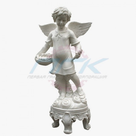 """Скульптура """"Маленький ангел на постаменте"""""""