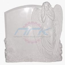 "Памятник из мрамора ""Ангел и цветы (малый)"""