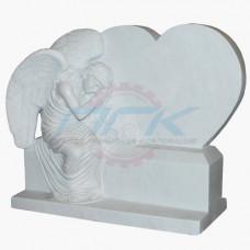 """Стела """"Ангел у надгробья в виде сердца (малый)"""""""