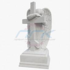 """Скульптура """"Ангел, облокотившийся на крест"""""""