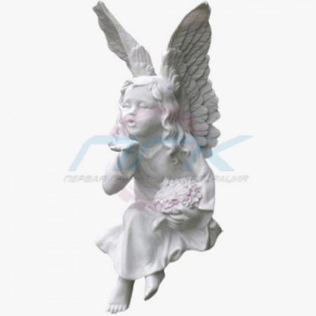 """Скульптура """"Ангелок - воздушный поцелуй"""""""